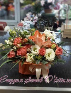 Мини композиция-комплимент с ароматными апельсинками